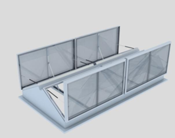 三角型电动排烟天窗
